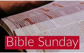 Sunday Sermon – Bible Sunday – 27th October 2019