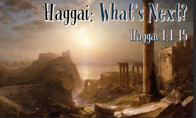 Sunday Sermon – Haggai – 20th December 2020